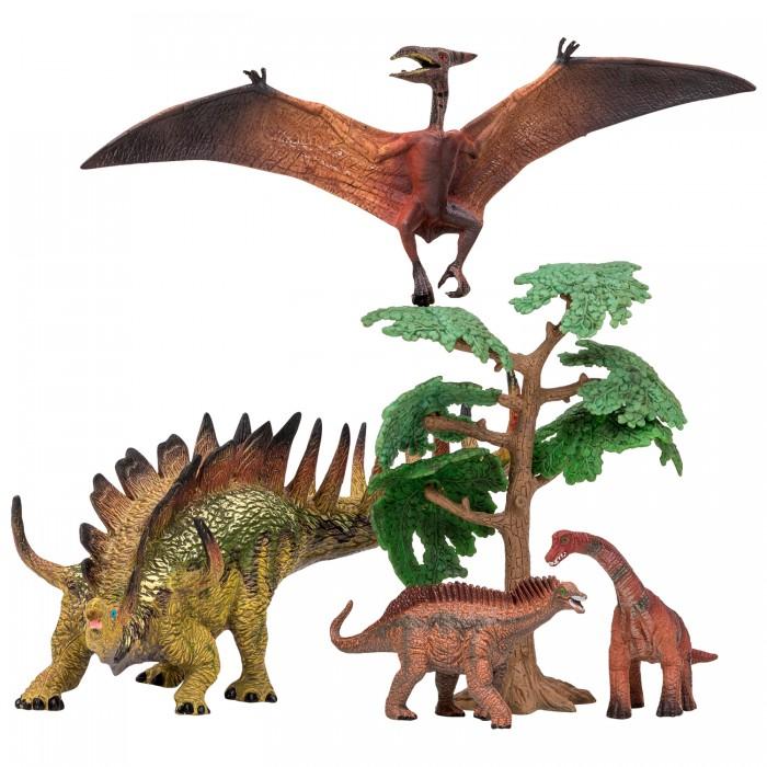 Купить Игровые фигурки, Masai Mara Набор Динозавры и драконы для детей Мир динозавров (5 предметов)