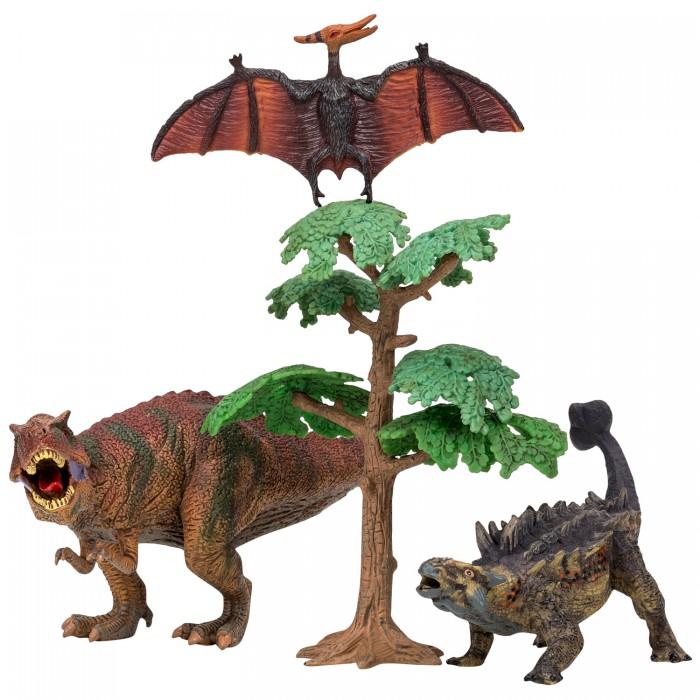 Купить Игровые фигурки, Masai Mara Набор Динозавры и драконы для детей Мир динозавров (4 предмета) MM206-022