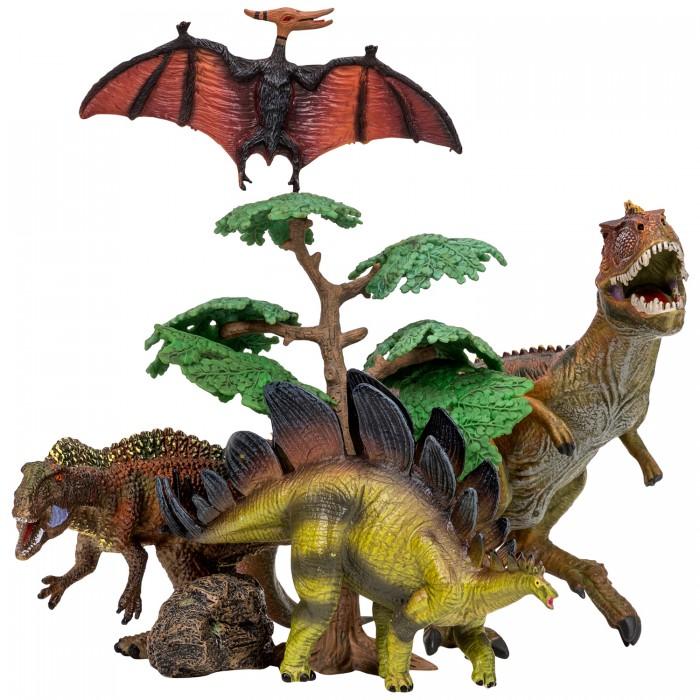Игровые фигурки Masai Mara Набор Динозавры и драконы для детей Мир динозавров (6 предметов) MM206-027