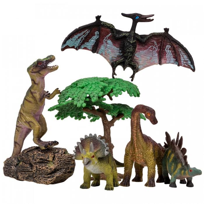 Игровые фигурки, Masai Mara Набор Динозавры и драконы для детей Мир динозавров (7 предметов) MM206-015  - купить со скидкой
