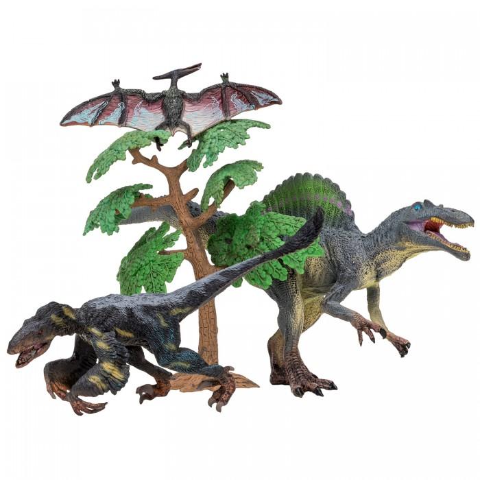 Купить Игровые фигурки, Masai Mara Набор Динозавры и драконы для детей Мир динозавров (4 предмета) MM206-019