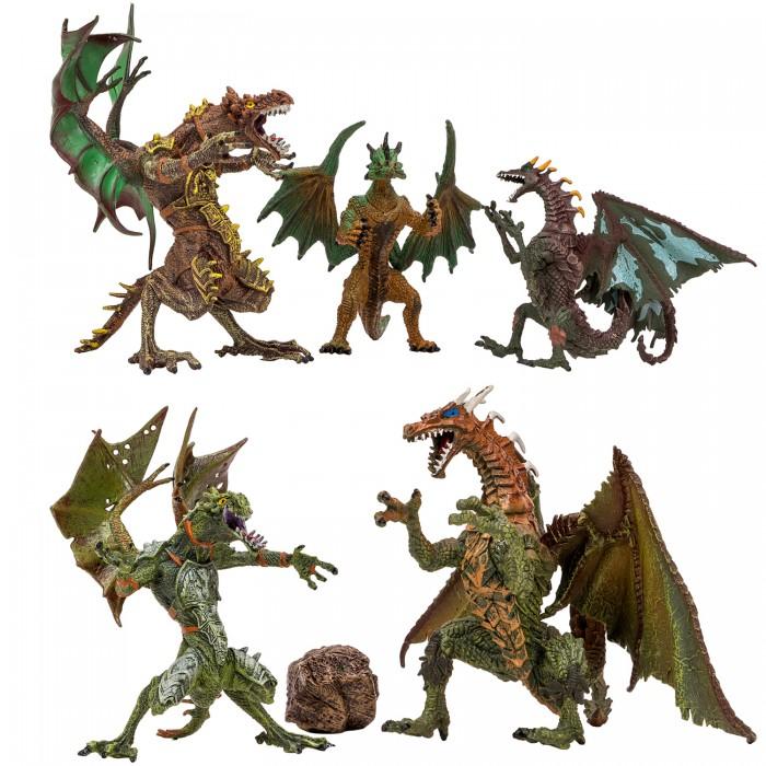 Купить Игровые фигурки, Masai Mara Набор Драконы и динозавры для детей Мир драконов (6 предметов)