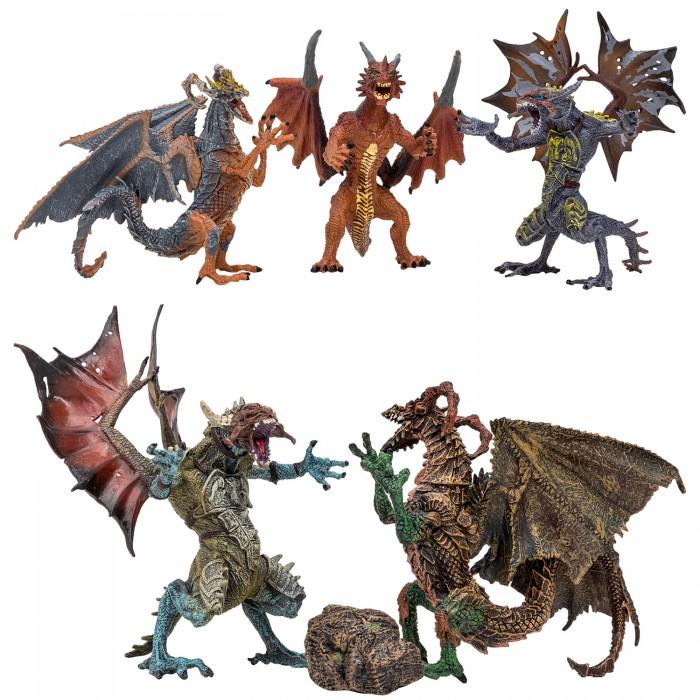 Купить Игровые фигурки, Masai Mara Набор Драконы и динозавры для детей Мир драконов (6 предметов) MM207-004