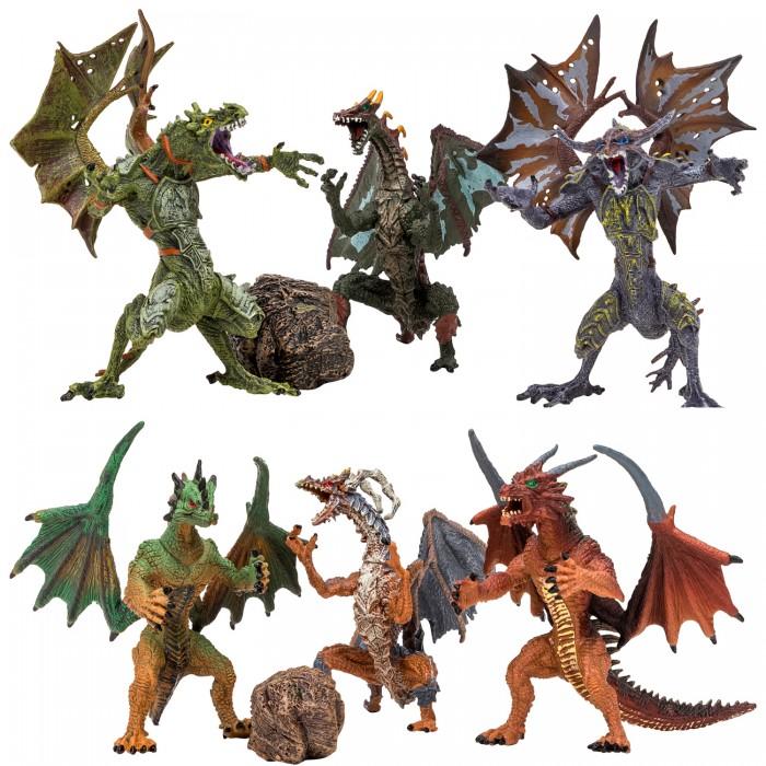 Купить Игровые фигурки, Masai Mara Набор Драконы и динозавры для детей Мир драконов (8 предметов)