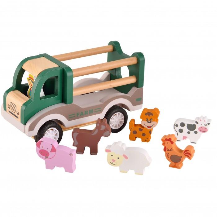 Деревянная игрушка Magni Фермерская машина с домашними животными
