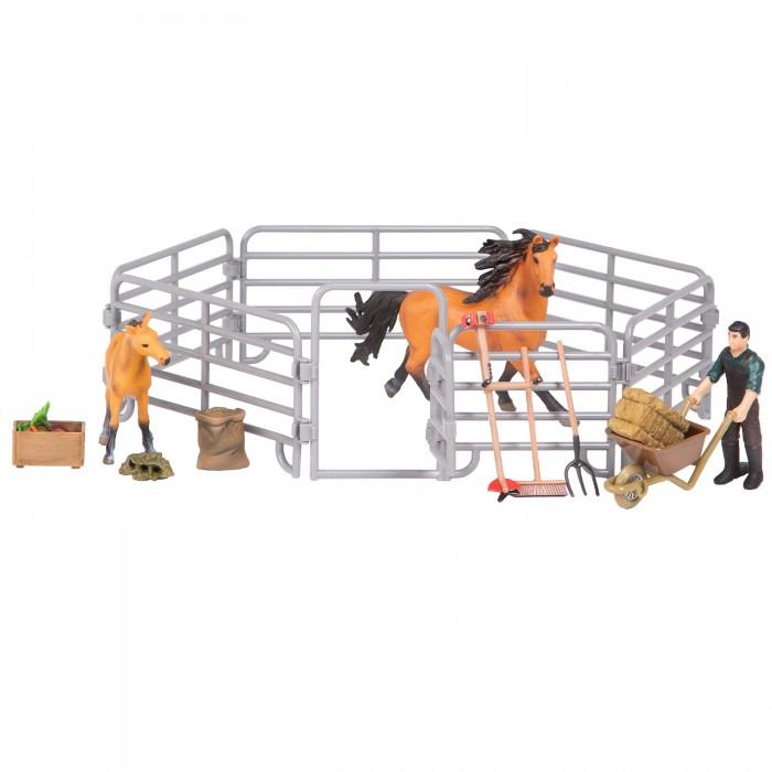 Купить Игровые фигурки, Masai Mara Набор фигурок Мир лошадей Конюшня (16 предметов)
