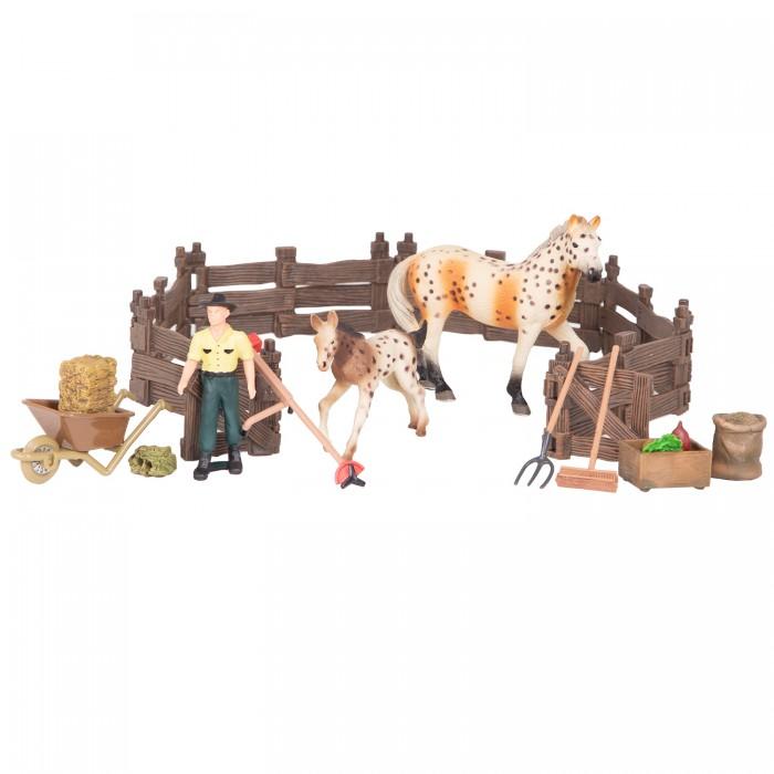 Купить Игровые фигурки, Masai Mara Набор фигурок Мир лошадей Конюшня (16 предметов) ММ205-072