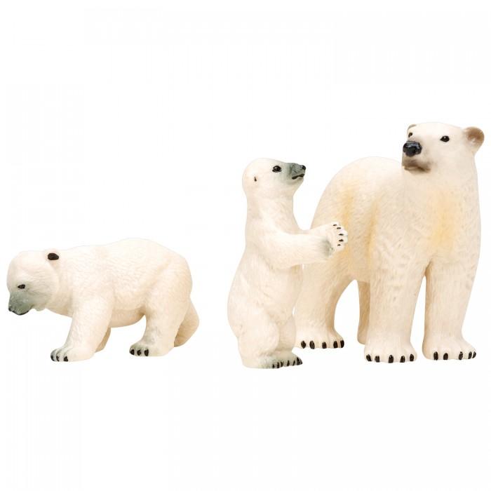 Купить Игровые фигурки, Masai Mara Набор фигурок Мир морских животных Белая медведица и медвежата (3 предмета)