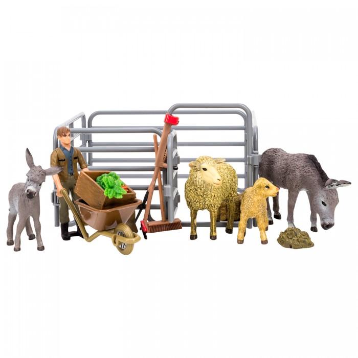 Купить Игровые фигурки, Masai Mara Набор фигурок животных На ферме Ослы, овцы (15 предметов)