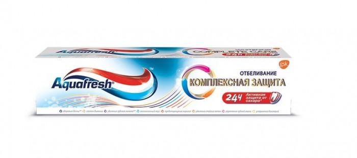 Гигиена полости рта Aquafresh Зубная паста Комплексная защита Отбеливание 100 мл гигиена полости рта colgate зубная паста бережное отбеливание 100 мл