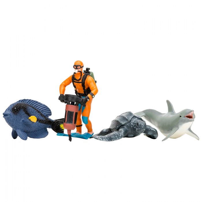 Купить Игровые фигурки, Masai Mara Фигурки игрушки Мир морских животных (4 предмета) ММ203-010