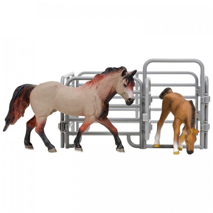 Игровые фигурки, Masai Mara Фигурки животных Мир лошадей Американская лошадь и жеребенок (3 предмета)  - купить со скидкой