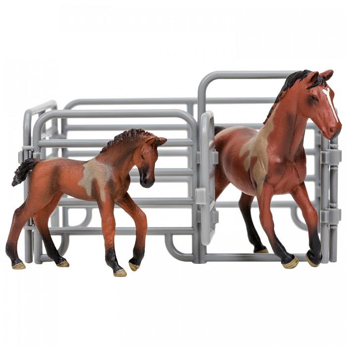 Купить Игровые фигурки, Masai Mara Фигурки животных Мир лошадей Ганноверская лошадь и жеребенок (3 предмета)