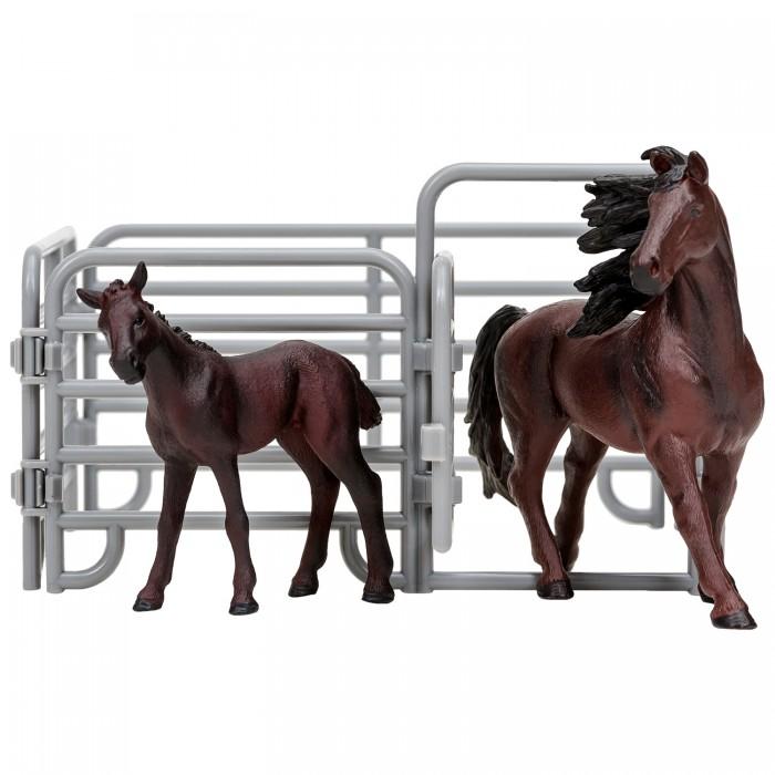 Купить Игровые фигурки, Masai Mara Фигурки животных Мир лошадей Фризская лошадь и жеребенок (3 предмета)