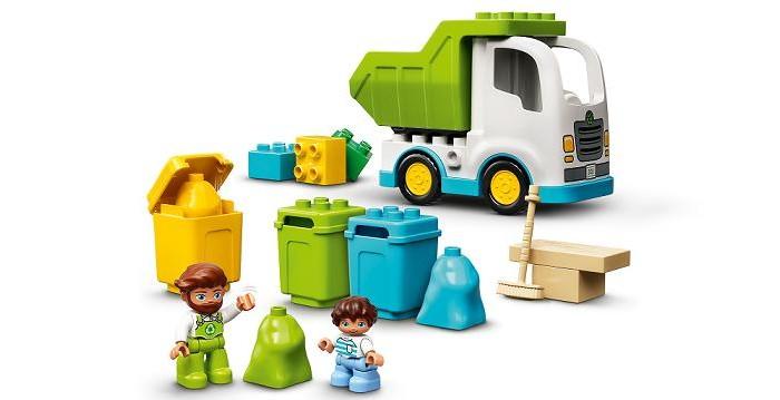 Lego Lego Duplo Мусоровоз и контейнеры для раздельного сбора мусора