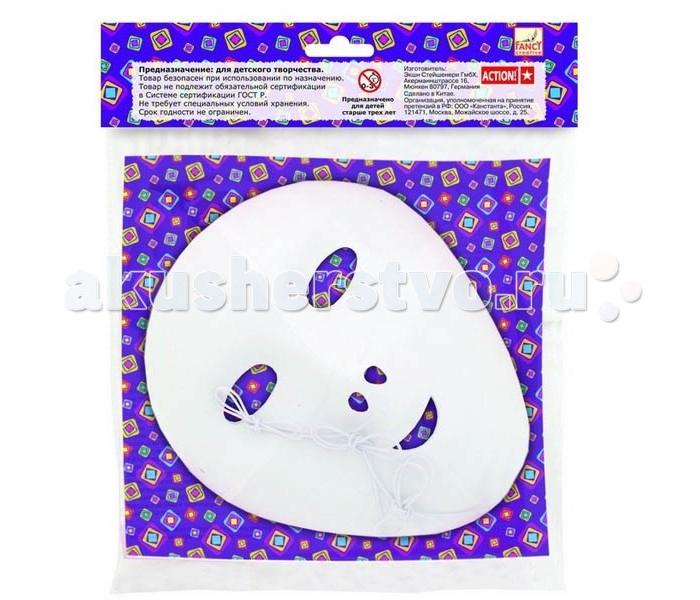 Наборы для творчества Fancy Creative Маски заготовки из пластика (3 шт.) наборы для творчества fancy creative набор для плетения резиночками бабочка