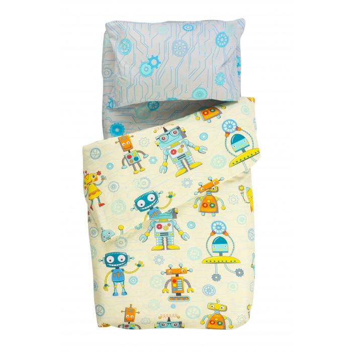Купить Постельное белье 1.5-спальное, Постельное белье Forest kids 1.5 спальное Robots (3 предмета)
