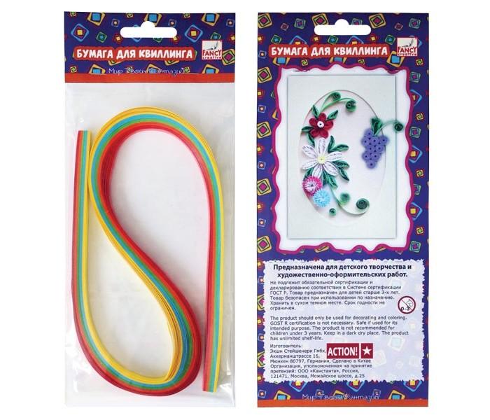 Канцелярия Fancy Creative Набор цветной бумаги для квиллинга Неон (3 мм) 5 цв. канцелярия fancy creative набор цветной бумаги для квиллинга радуга 9 мм 5 цв