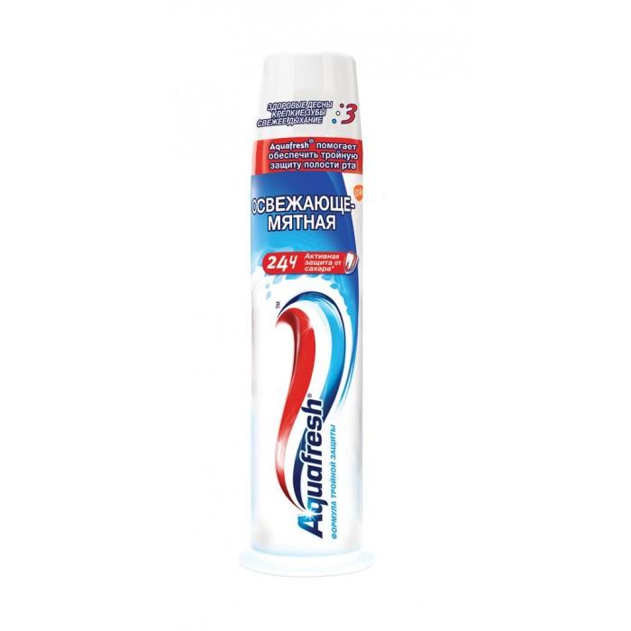 Гигиена полости рта Aquafresh Зубная паста Освежающая мятная 100 мл (помпа) aquafresh зубная щетка hd зубная паста отбеливающая aquafresh 75 мл