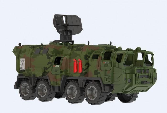 Машины Нордпласт Машинка военный тягач Щит с кунгом