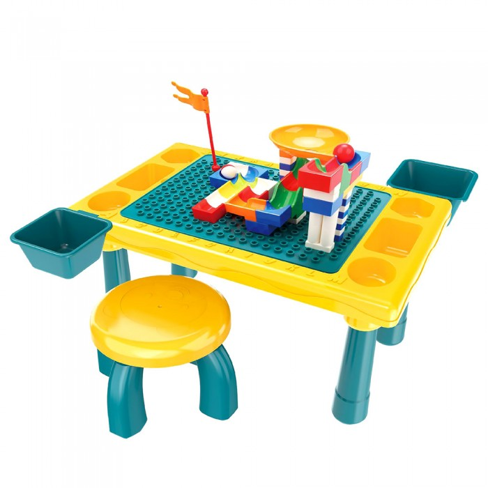 Игровые центры Pituso Стол для игры с конструктором (58 элементов)