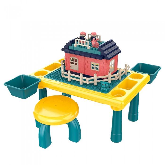 Игровые центры Pituso Стол для игры с конструктором (76 элементов)