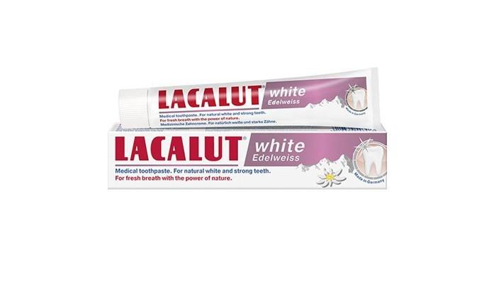 Гигиена полости рта Lacalut Зубная паста White Edelweiss 75 мл гигиена полости рта logona logodent травяная гелевая зубная паста с мятой 75 мл