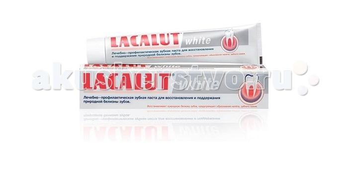 Гигиена полости рта Lacalut Зубная паста White 75 мл гигиена полости рта lacalut зубная паста sensitive 75 мл