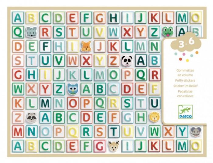 Детские наклейки Djeco Набор объемных наклеек Латинские буквы 300 шт. детские наклейки djeco набор объемных наклеек мамы и детки