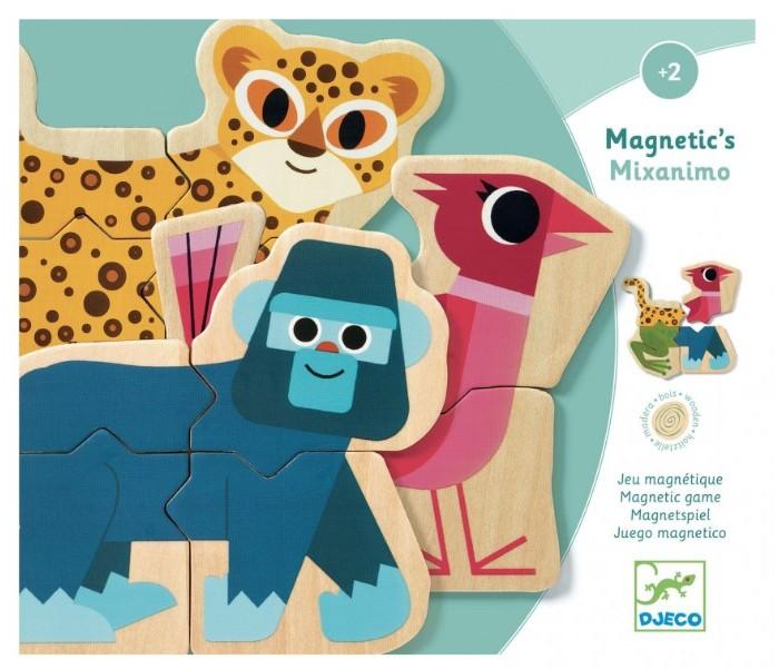 Купить Деревянные игрушки, Деревянная игрушка Djeco Магнитная игра Пазл-микс (24 элемента)