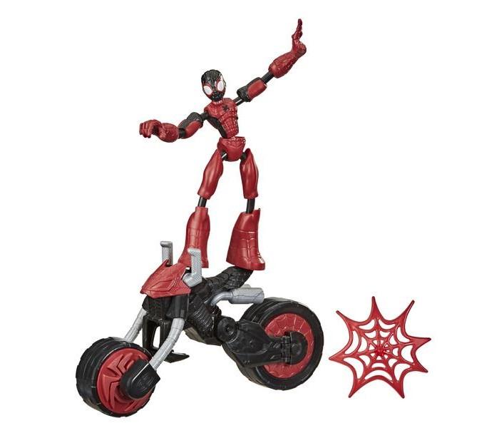 Игровые фигурки Spider-Man Игровой набор Бенди Человек Паук на мотоцикле