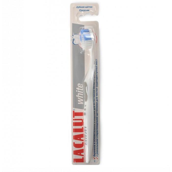 Гигиена полости рта Lacalut Зубная щетка White lacalut зубная щетка sensitive мягкая щетина в ассортименте