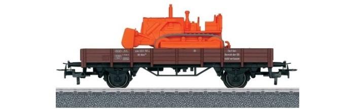 Купить Железные дороги, Marklin Платформа с низкими бортами с бульдозером