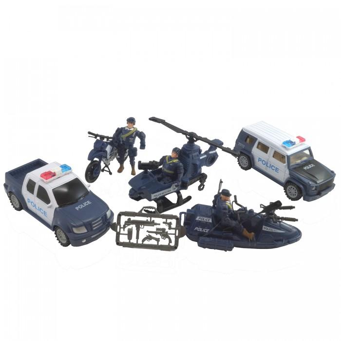 Игровые наборы HK Industries Игровой набор Полицейские, машины, грузовики, вертолет, лодка