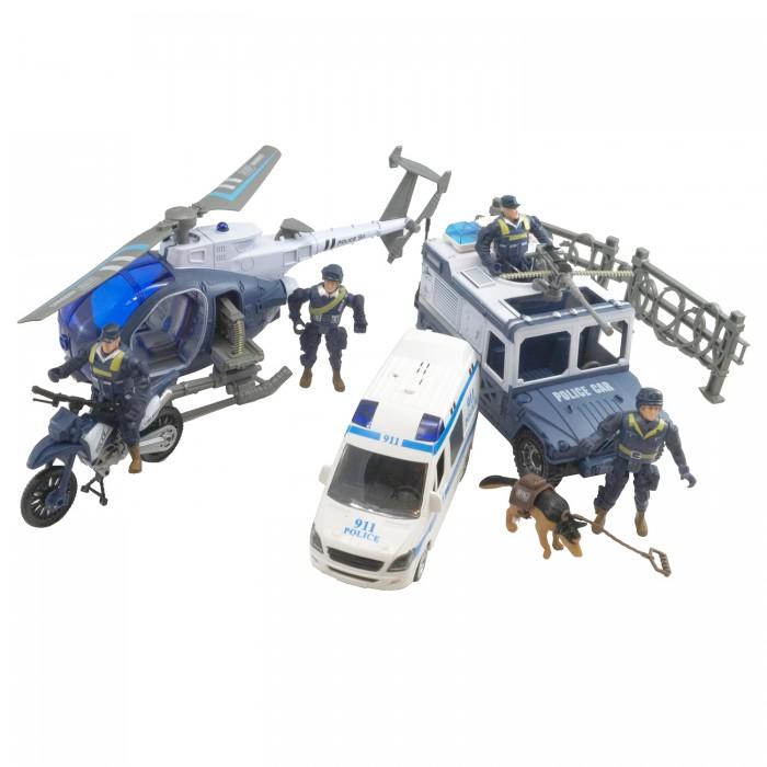 Игровые наборы HK Industries Игровой набор Полицейские, полицейские машины, грузовики, вертолет с функцией Try Me
