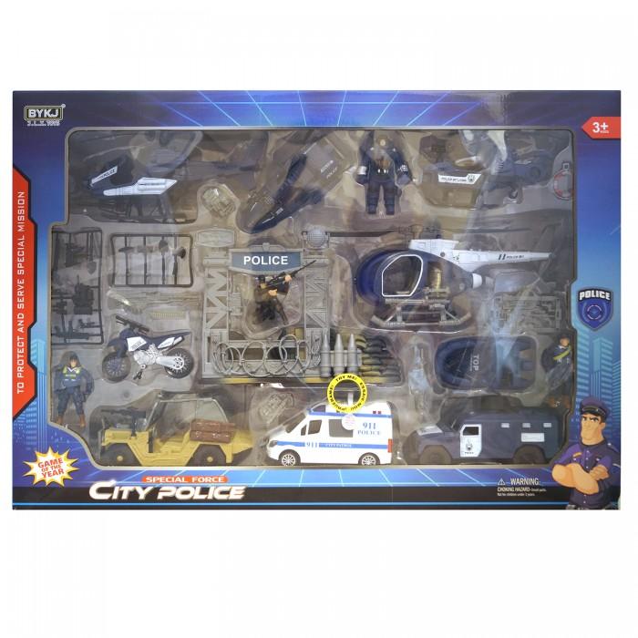 Игровые наборы HK Industries Игровой набор Полицейские, машины, грузовики, вертолеты, мотоцикл с функцией Try Me