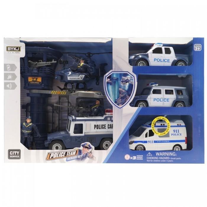 Игровые наборы HK Industries Игровой набор Полицейские, машина, грузовики, вертолет, башня с функцией Try Me