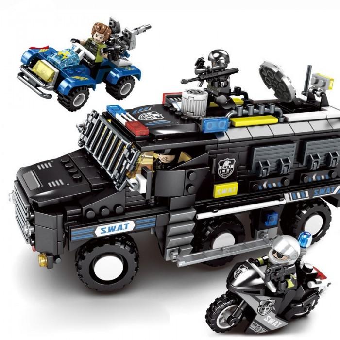 Купить Конструкторы, Конструктор Sembo Спецназ Бронированный микроавтобус (705 деталей)