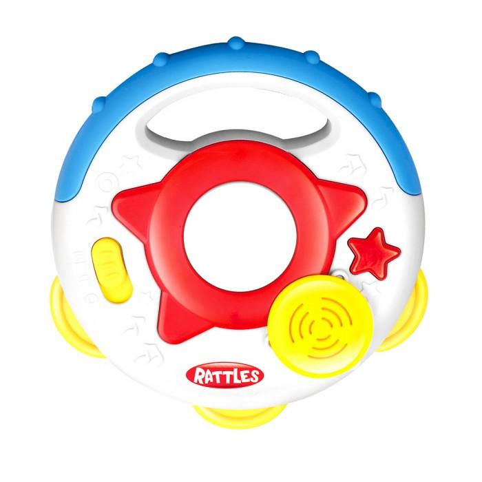 Купить Развивающие игрушки, Развивающая игрушка Haunger погремушка Бубен со звуком и светом