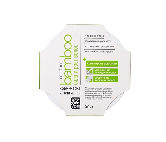 Купить Косметика для мамы, Modum Bamboo Крем-маска интенсивная Сила и рост волос 200 мл
