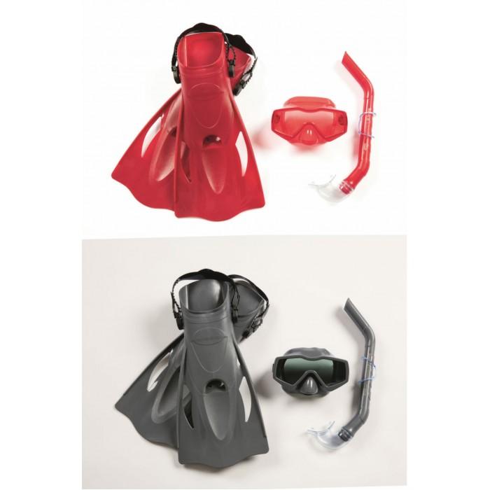 Купить Аксессуары для плавания, Bestway Набор для ныряния Меридиан (маска, трубка, ласты) от 14 лет