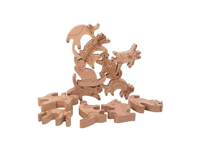 Купить Деревянные игрушки, Деревянная игрушка ЯиГрушка Логическая игра Коты-кастельеры 12 шт.