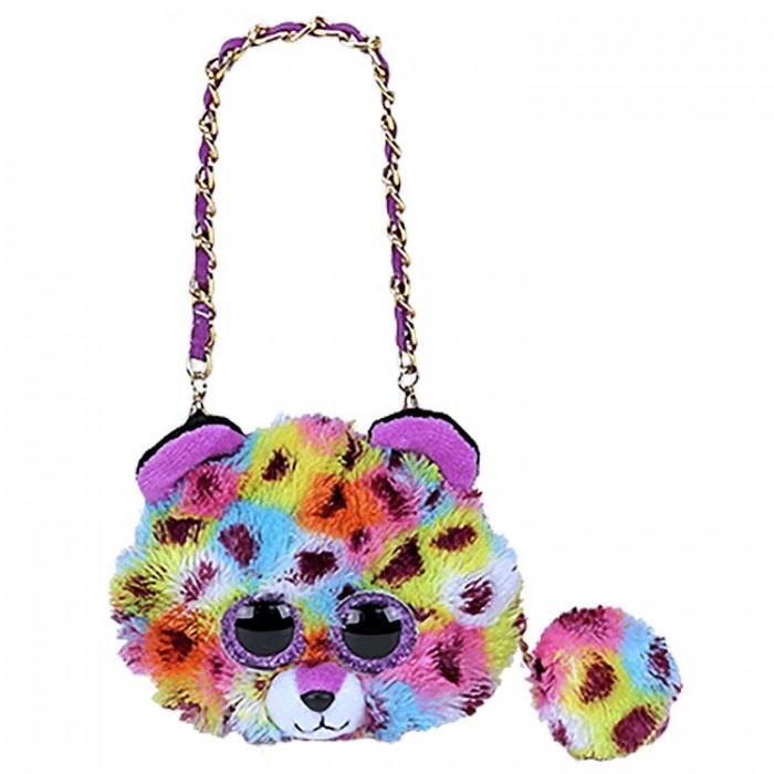 Сумки для детей TY Мини-сумочка Жизель леопард
