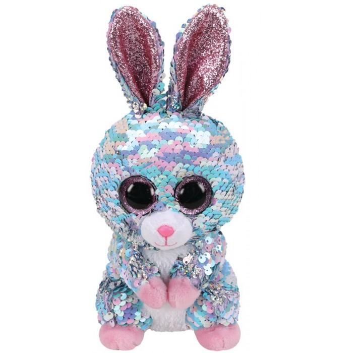 Мягкие игрушки TY Рейндроп кролик с пайетками 15 см