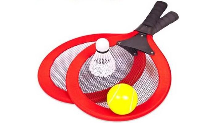 Спортивный инвентарь ABtoys Спортивная игра Бадминтон и теннис 2 в 1 (4 предмета) S-00178