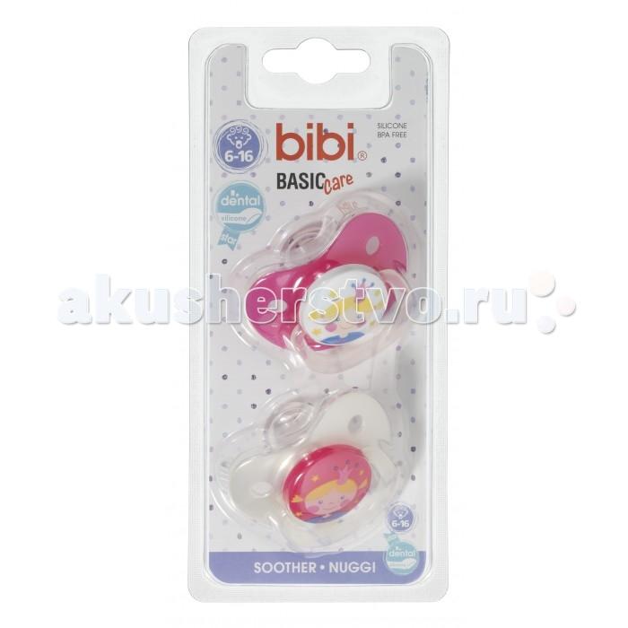 Пустышки Bibi Dental силикон 6-16 мес. Basic Care ДУО 2 шт. Коллекция № 5 bibi пустышка natural basiccare дуо коллекция 6 силиконовая 0 6 месяцев 2 шт