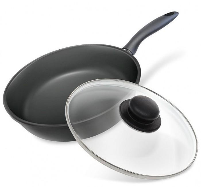 Купить Посуда и инвентарь, InHome Сковорода Neva Black литая 26 см с крышкой