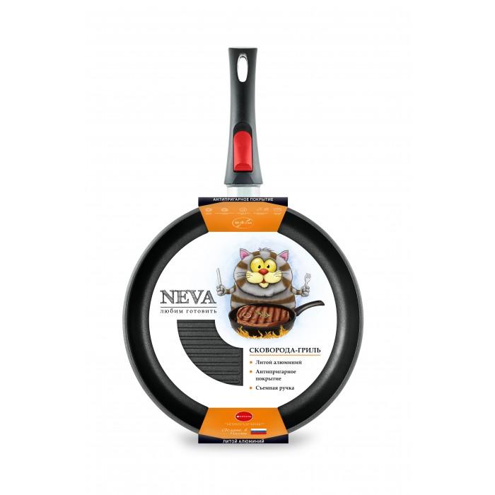 Купить Посуда и инвентарь, InHome Сковорода-гриль низкая Neva Black 24 см