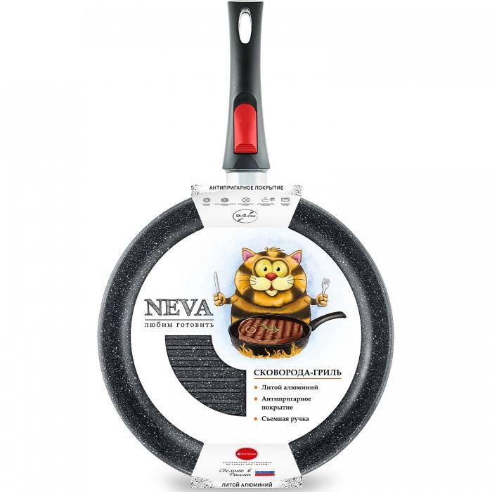 Купить Посуда и инвентарь, InHome Сковорода-гриль низкая Neva Granite 24 см