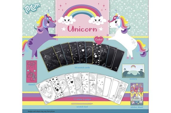 Фото - Наборы для творчества Totum Набор для творчества Альбом для граттажа Unicorn totum коляска totum сити нео